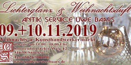 Lichterglanz & Weihnachtsduft bei Antik Service Uwe Baars Tickets