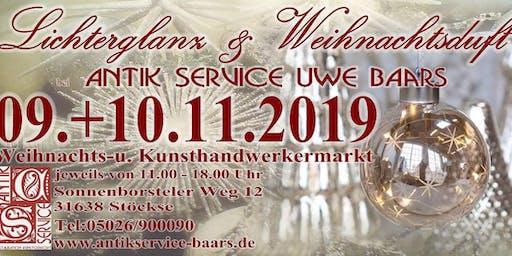 Lichterglanz & Weihnachtsduft bei Antik Service Uwe Baars