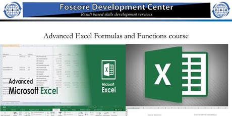 Advanced Excel Formulas and Functions course tickets