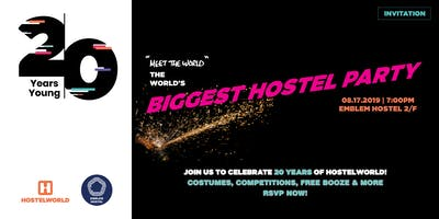 Hostelworld 20th Anniversary - 20 Years Young: Meet The World Party