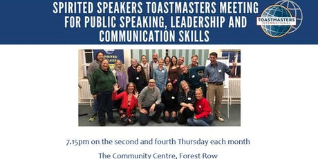Toastmasters Group - Spirited Speakers - Forest Row tickets