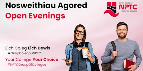 Open Evenings | Nosweithiau Agored tickets
