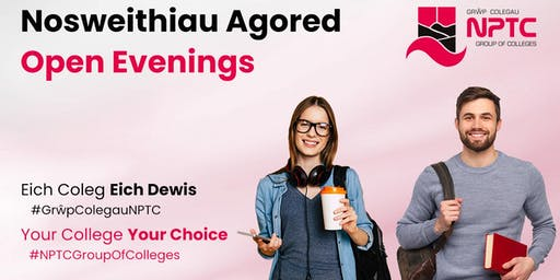 Open Evenings | Nosweithiau Agored