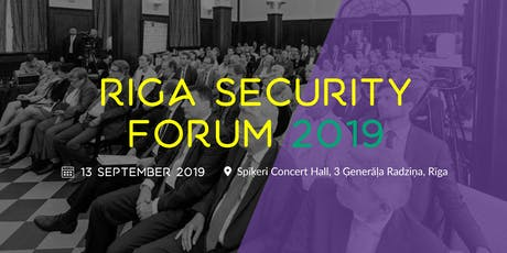 Riga Security Forum 2019 tickets