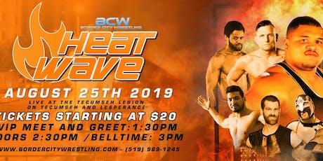 BCW Heatwave 2019 tickets