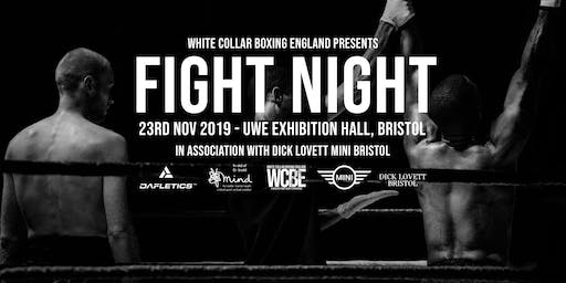 White Collar Boxing England Presents FIGHT NIGHT - Bristol - 23rd Nov 2019