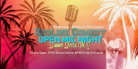 English Comedy  Open Mic Nicht | Summer  Special Vol. 2 Tickets