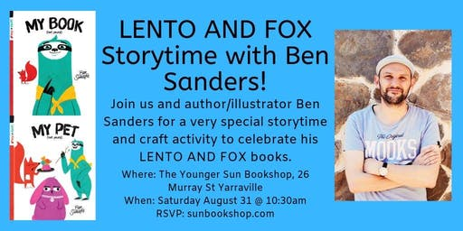 Lento and Fox Storytime with Ben Sanders!