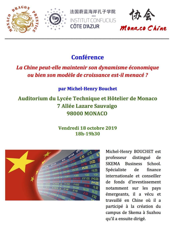 Conférence La Chine peut-elle maintenir son dynamisme économique ou bien son modèle de croissance est-il menacé ?
