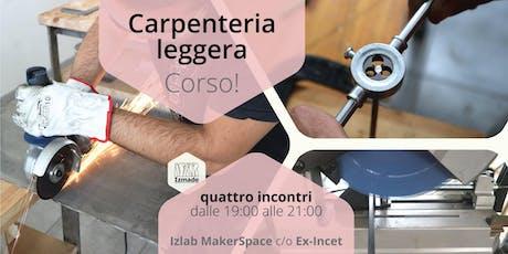 Corso di carpenteria leggera biglietti