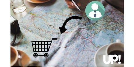 ¿Qué pasa desde que el cliente te descubre hasta que te compra?. Construye el customer journey. entradas