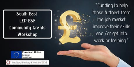 South East LEP ESF Community Grants Workshop (Thursday 29th August PM) tickets