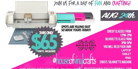 Vinyl Cutting CLASSES! (Cricut & Silhouette) tickets