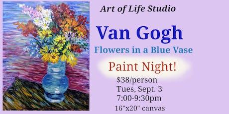 Van Gogh Paint Night: Flowers in a Blue Vase tickets