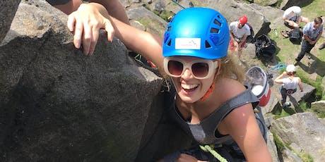 Outdoor Rock Climbing Taster Day tickets