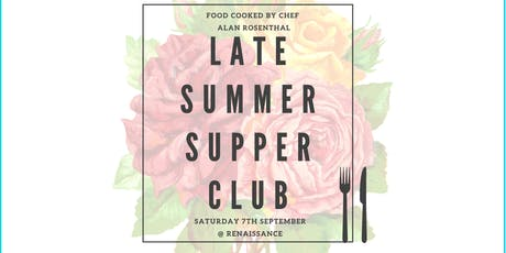 Late Summer Supper Club tickets