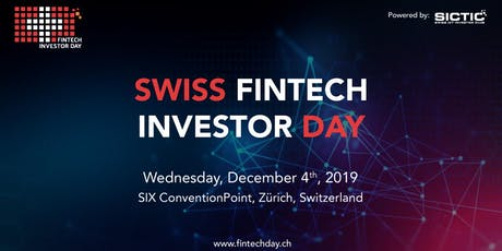 Swiss Fintech Investor Day 2019 tickets