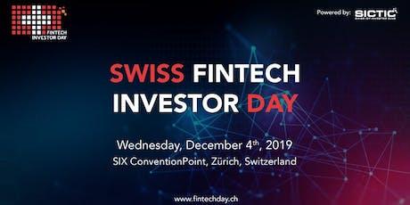Swiss Fintech Investor Day 2019 Tickets