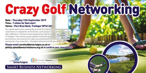 Crazy Golf Breakfast Networking