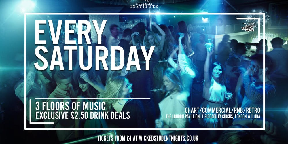 Saturdays at Piccadilly Institute // £2 50 Drinks Tickets