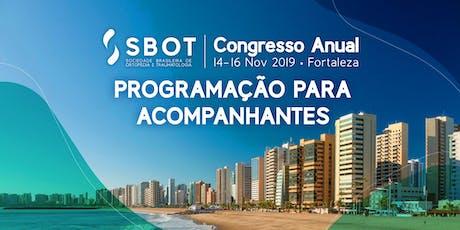 Acompanhantes SBOT 2019 | Fortaleza ingressos