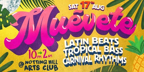 Muévete - Latin Beats party with DJs Isa GT & Ivicore tickets