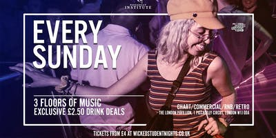 Sundays at Piccadilly Institute // £2.50 Drinks