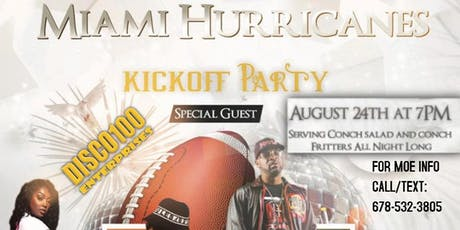 MIAMI HURRICANES KICK-OFF PARTY tickets