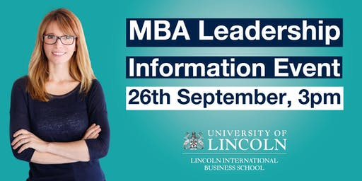 INFO EVENT: Senior Leaders Master's Degree Apprenticeship (MBA Leadership)