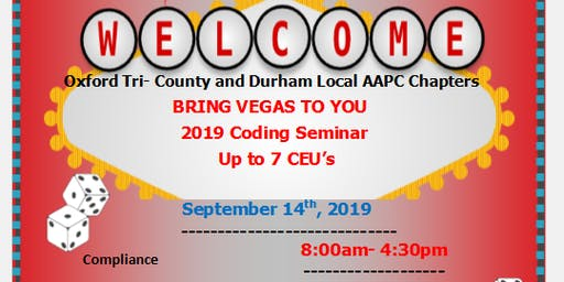 Oxford Tri-County and Durham Local AAPC Chapter 2019 Coding Seminar