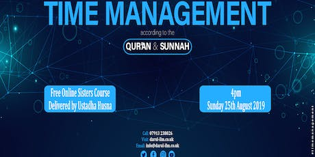 Time Management according to the Quran and Sunnah tickets