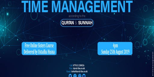 Time Management according to the Quran and Sunnah