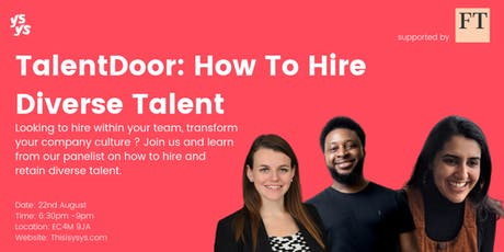 TalentDoor: Hire Diverse Talent tickets