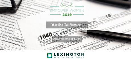Year End Tax Planning tickets
