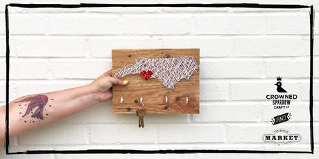 Crowned Sparrow Co.: Craft Night Out! | Midi NC Pallet Wood N&S Art tickets