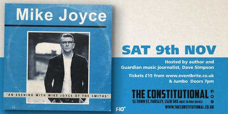 An Evening With Mike Joyce of The Smiths  tickets
