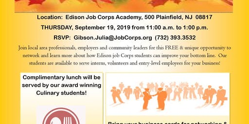 Edison Job Corps Community Networking Luncheon
