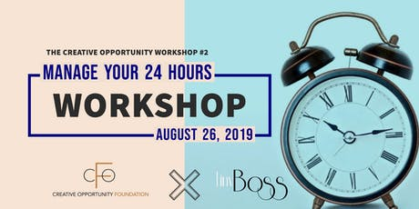 Creative Opportunity Workshop 2: Developing A Millionaire's Schedule tickets