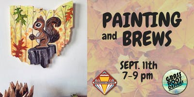 Little Squirrel | Painting + Brews at Bookhouse Brewing