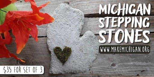 DIY Michigan Stepping Stones - Paw Paw