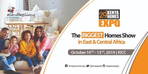 29th Kenya Homes Expo, October 10th - 13th 2019