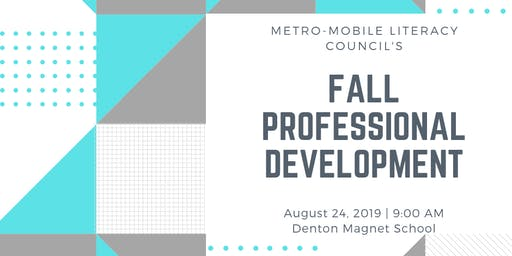 CANCELED!!!!Fall Professional Development hosted by Metro-Mobile Literacy Council