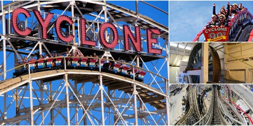 Behind-the-Scenes @ Coney Island Cyclone Workshop & First Ride of the Day