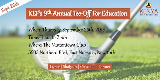 KEF's 9th Annual Tee-Off For Education