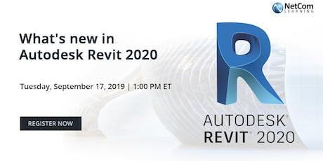 Webinar - What's new in Autodesk Revit 2020 tickets