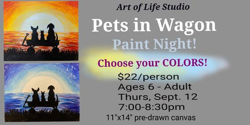 Paint Night: Pets in Wagon