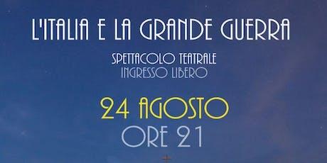 """Prenotazione Bus Spettacolo """"L'Italia e la Grande Guerra"""" biglietti"""