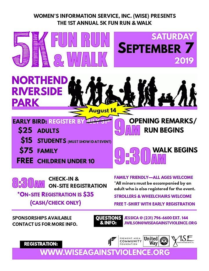 WISE 1st Annual 5K Fun Run & Walk image