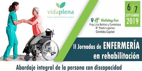 II Jornadas de Enfermería en Rehabilitación tickets