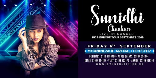 DesiBites & Angel Events Presents Sunidhi Chauhan Live